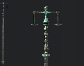 Fantasy Stylish- Staff of Balance 3D asset
