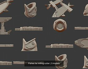 3D Fishes for milling cutter