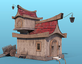 3D asset Wooden Cartoon House