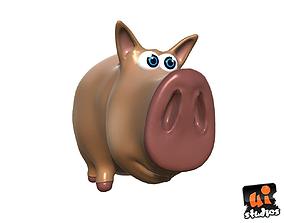 Cartoon Pig 3D asset