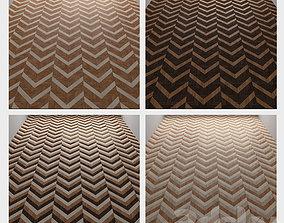 brown 3D model wood floor 4 types