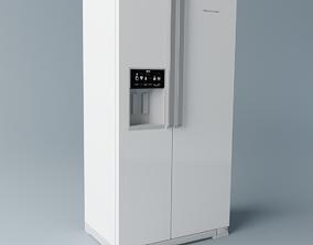 3D Brastemp Side by Side Refrigerator - White