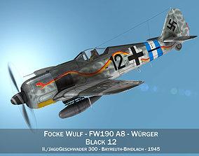 3D model Focke Wulf - FW190 A-8 - Black 12