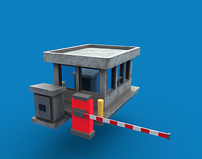 Security Booth PBR 3D model