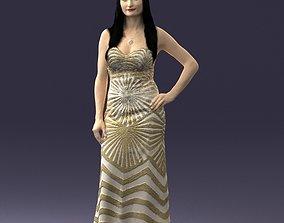 golden dress 0730 3d print ready