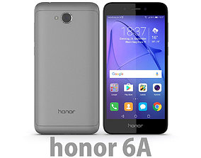 Huawei Honor 6A Dark Gray 3D model
