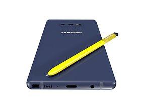 Samsung Galaxy Note 9 Ocean Blue 3D asset