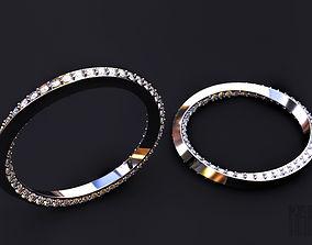 3D print model twisted diamond ring