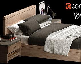 Double Bed Modern 01 3D model