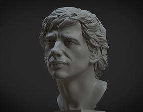 Ayrton Senna 3d portrait
