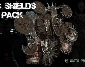 3D asset Orc Set of fantasy shields