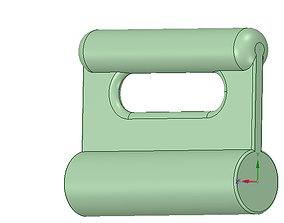 Nylon Internal Flat Slide and Slug ABA-258-ustrong 3d
