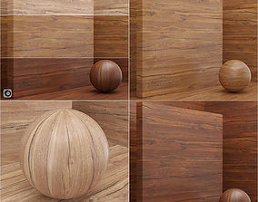 3D model Material wood veneer slab seamless