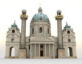 3D model Karlskirche - Vienna Austria