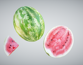 Watermelon apple 3D asset realtime