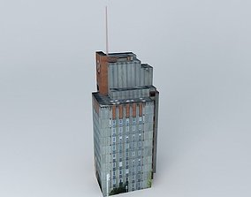 3D model Old commercial building in Kaunas