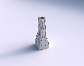 Vase squeezed rectangle with cavities 3D print model
