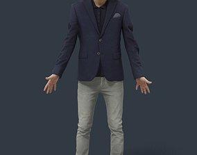 Animated Smart Casual Man Elegant - A-pose - 3D asset