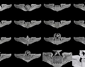 trophy 3D USAF Wings Badge set