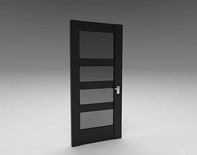 Door with Glass 3D model