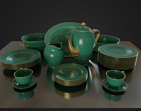 Dinner set 01 3D asset game-ready