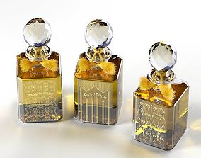 3D Baccarat Crystal Perfume Bottles architectural