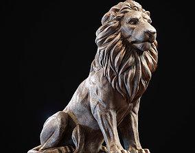 Lion sculpture PBR Lowpoly 3D model
