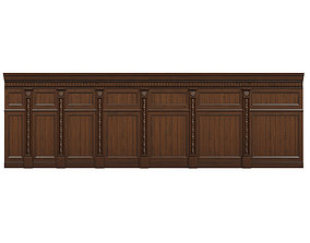 3D asset VR / AR ready Threaded wood panels 015