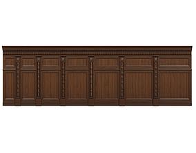 3D asset Threaded wood panels 015