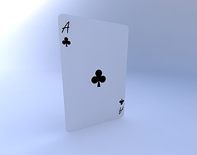 3D Ace of Clubs