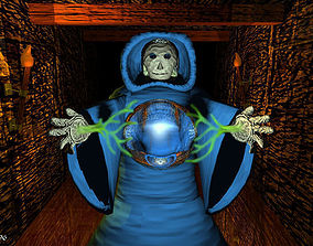 Blue robed wizard 3D