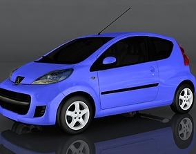 Peugeot 107 3D asset