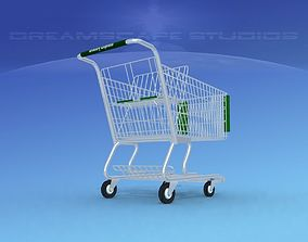3D model rigged Shopping Cart