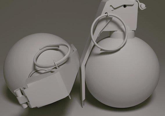 Grenade model for 3D print