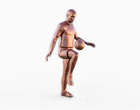Soccer player 3D printable model figure