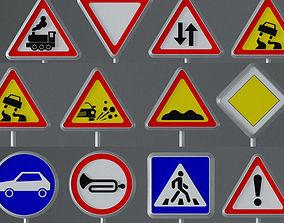 3D model Road Signs