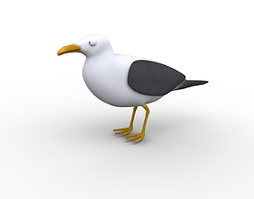 3D model Cartoon Seagull - Rigged