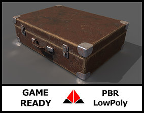 3D model game-ready Old suitcase