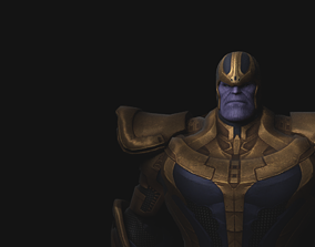 3D model Marvel Thanos iron-man
