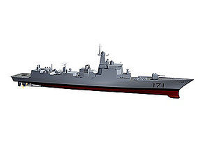3D model Chinese Navy DDG-171 Type 052C Destroyer C4D