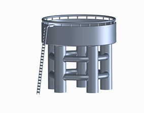 Overhead Water Tank 3D printable model