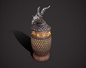 3D model VR / AR ready Dragon urn