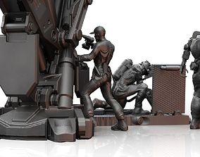 3D printable model Scifi Technicians