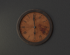 Wall Clock with Animation High Quality 3D asset