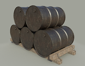 Metal barrels 3D model butter