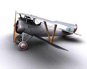 French Nieuport 24 WW1 Biplane fighter 3D model
