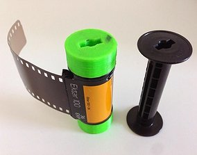 3D print model 35mm Film on 120 Spool Adapter
