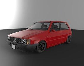 FIAT UNO TURBO 1985 - 2DOORS - CUSTOM 3D asset