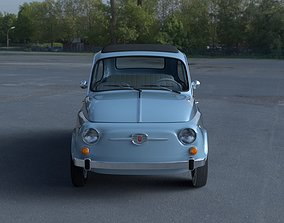 3D Fiat 500 Nuova 1957 with interior HDRI