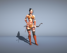 3D model Woman Gladiator with bow
